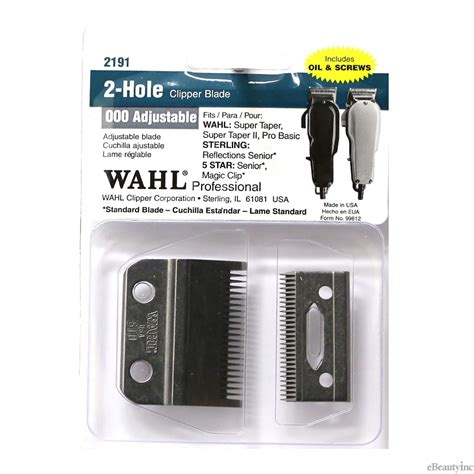 wahl super taper blade 2 wahl replacement blade 2 hole for 5 star senior magic