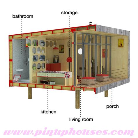 tiny home blueprints contemporary small house plans