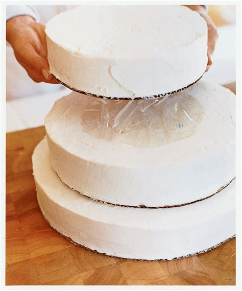 how to assemble a tiered wedding cake sunset