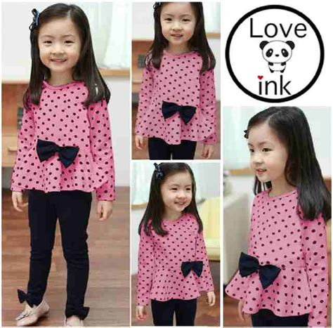 Dress Anak Sling Pink Small Usia 3 24 Month jual baju anak dress anak dress polkadot pita