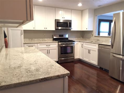 kitchen cabinets with granite countertops colonial white granite kitchen 40 photo gallery homes
