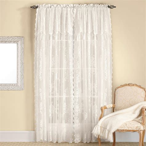 living room curtains with attached valance window
