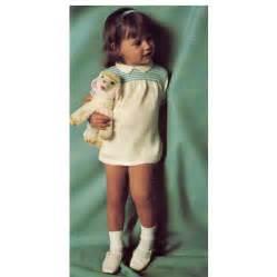 Little girls knitted smoke dress top pdf pattern size