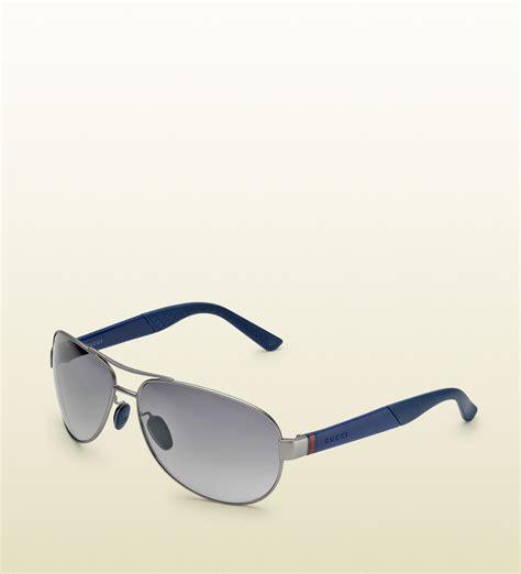 Gucci 2014 Blue lyst gucci mens sporty aviator sunglasses in blue for