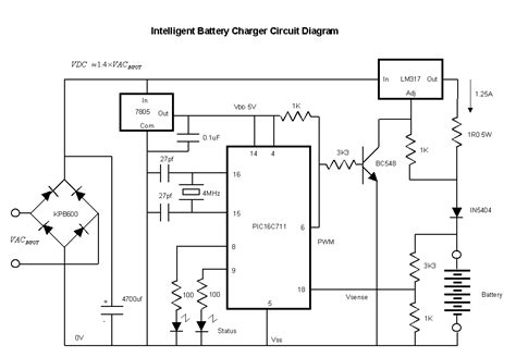 nicd battery charger circuit diagram intelligent nicd nimh battery charger elektronika