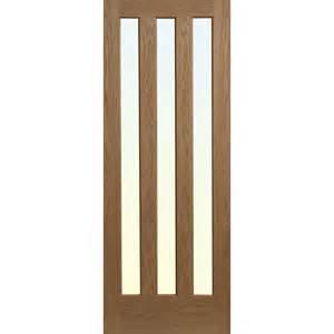 Interior Oak Doors With Glass Alnwick Oak Veneer 3 Lite Glazed Interior Door Next Day Delivery Alnwick Oak Veneer 3 Lite