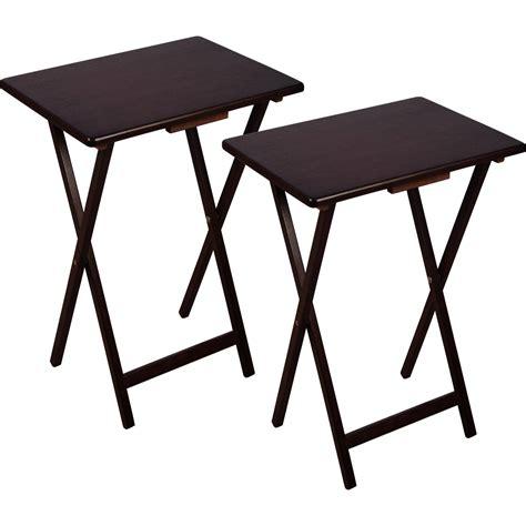 walmart com folding table folding tray table espresso walmart com