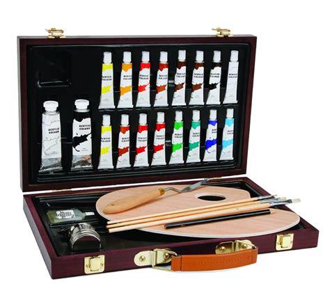 acrylic paint and canvas set studio 71 wood box acrylic set of 27 pieces rex supplies