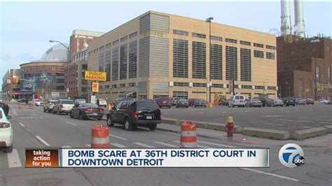36th District Court Search Bomb Scare At 36th District Court