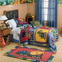 Toddler Construction Bedroom Tractor Baby Bedding Boys Construction Quilt By Rafael