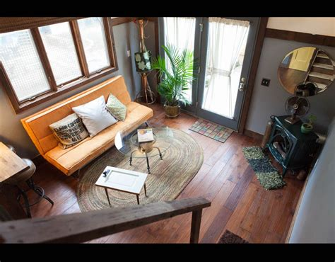 airbnb tiny house oregon the living room in the rustic modern tiny house in