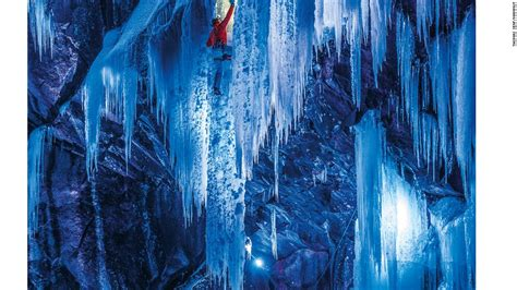 lights that turn on when it gets dark fire and ice shining a light on norway s frozen waterfalls