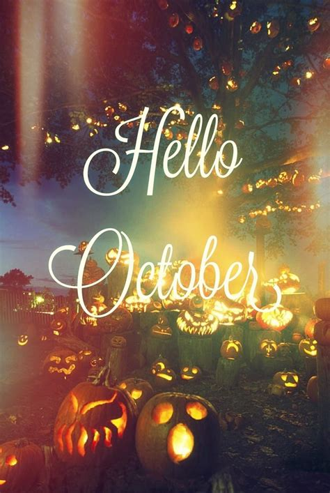 imagenes de welcome november hello october quote with jack o lanterns pictures photos