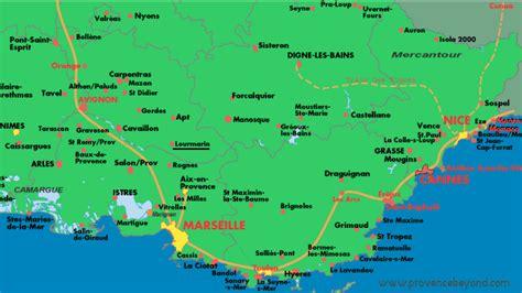 provence map maison map