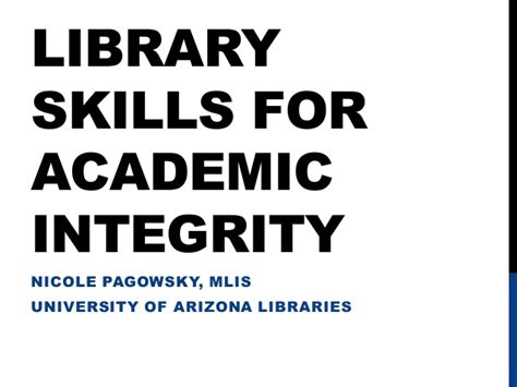 library skills for academic integrity