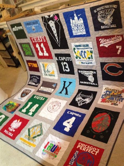 Custom Tshirt Quilt by Custom T Shirt Quilts Made From Your T Shirts Deposit Only