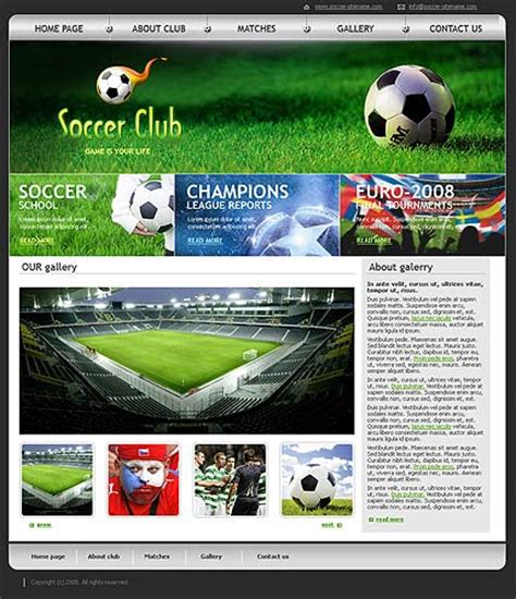soccer html template soccer club html template id 300110115 from simavera