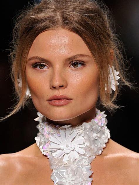 high cheekbones square face magdalena frackowiak s fabulous cheekbones jawline