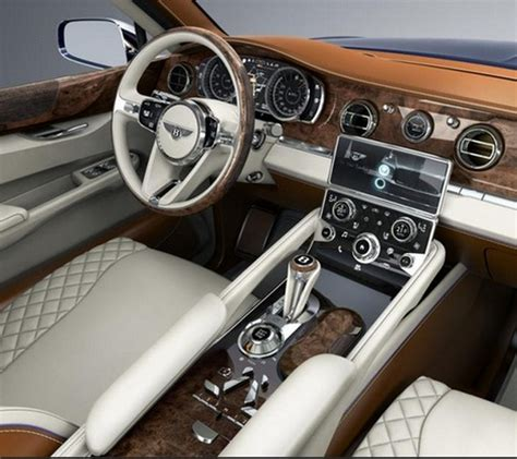 bentley bentayga 2016 interior bentley bentayga first production suv turbozens