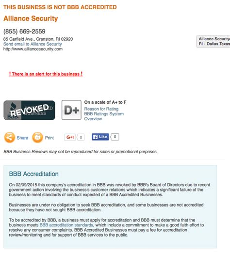 alliance security reviews real customer reviews