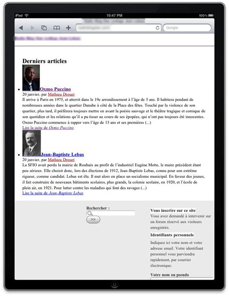 page layout css landscape ipad css layout spip contrib
