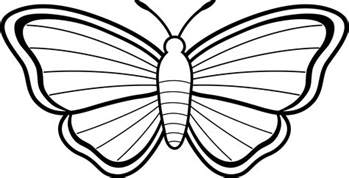 Outline Free by Butterfly Outline Simple Butterfly Template Gclipart