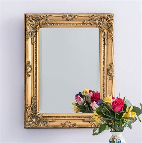 Handcrafted Mirrors - antique gold mirror by crafted mirrors