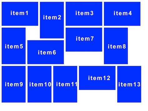 custom layout for uicollectionview objective c custom layout for different cell sizes in