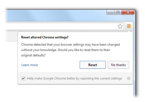reset developer tools chrome google chrome warns users when chrome settings hijacked