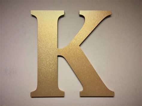 gold sparkel letter  large  standing monogram letter