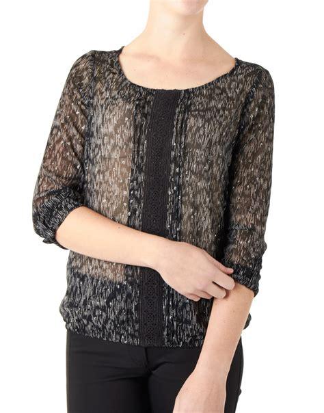 Blouse Glitter Black dept blouse glitter dots black