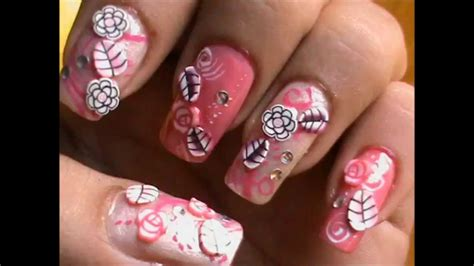 easy nail art collection easy fimo canes nail art tutorial fimo clay creations