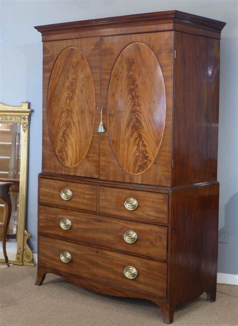 georgian wardrobe antique linen press georgian linen