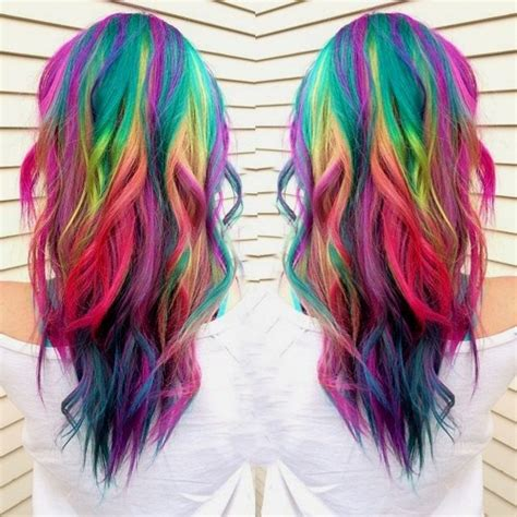 rainbow hair color pictures 20 rainbow hair pictures to join the unicorn tribe
