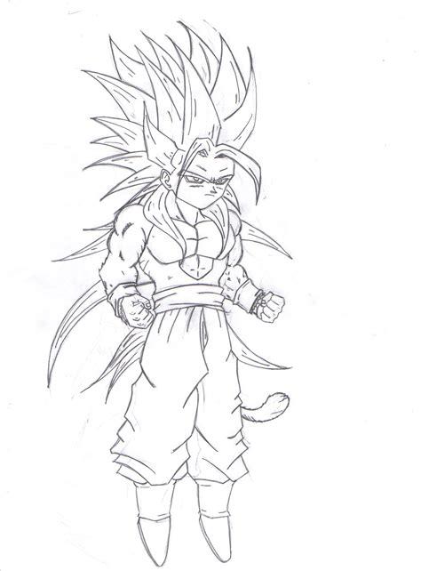 dragon ball af goku ssj5 transformation