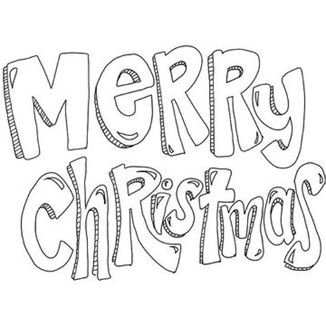 Printable Christmas Coloring Pages Merry Text Coloring Pages