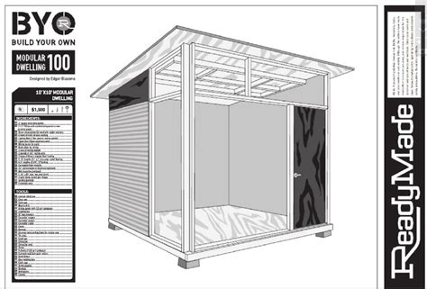 Studio Shed Plans by Md100 Plans For Modern Shed 183 Cover Studios