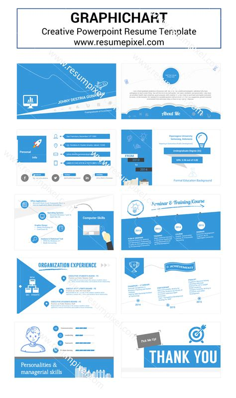 Powerpoint Resume Template by Resume Template Powerpoint