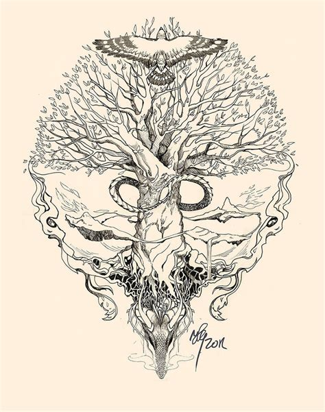 yggdrasil uroboros by sunshiver on deviantart