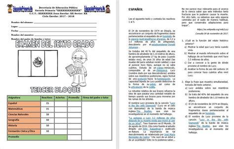 preguntas sin respuestas toby letra examen del sexto grado del tercer bloque del ciclo escolar