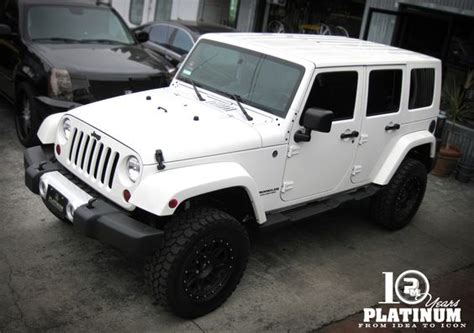 white jeep with top snow white jeep unlimited x platinum motorsport