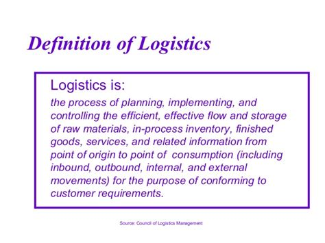 logistics and supply chain management overview