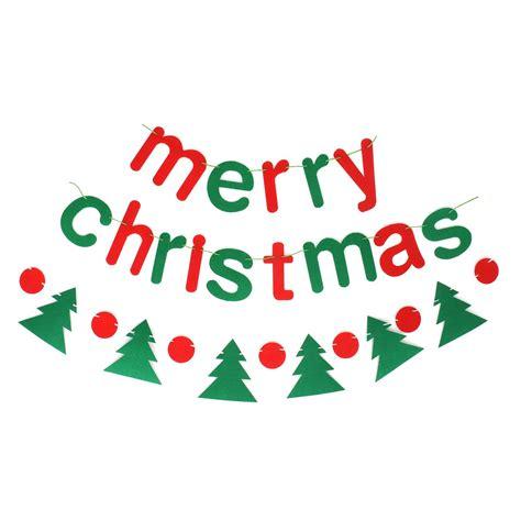 buy christmas banner merry christmas letters  christmas tree felt garland decorations