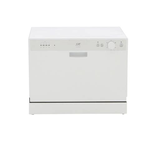 Spt Countertop Dishwasher White by Spt Countertop Dishwasher In White With 6 Wash Cycles And