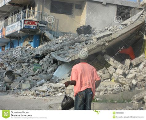 earthquake dream haiti destroyed by earthquake editorial image image