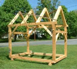 Post And Beam Shed Construction by Timber Frame Barns My Shed Building Plans