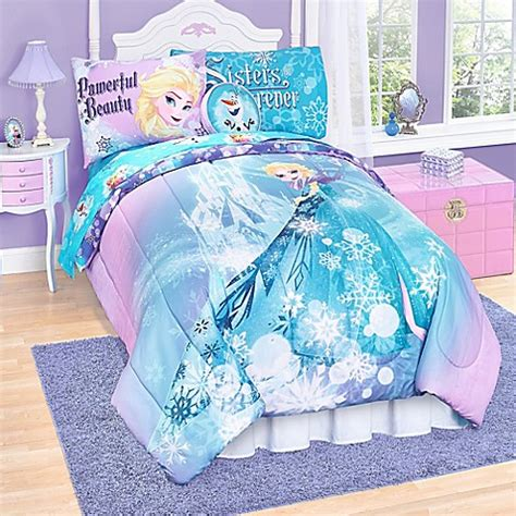 disney frozen bedding disney 174 quot frozen quot elsa reversible comforter set bed bath beyond