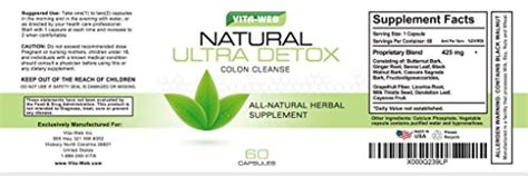 Recovery Or Detox Business For Sale In by Vita Web Colon Cleanse And Detox 60 Capsules Business