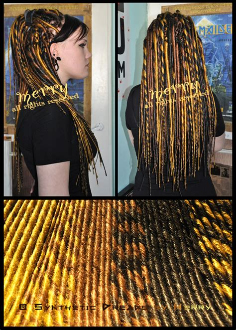 gold dreadlock dreadlocks on synthetic dreads dreads and