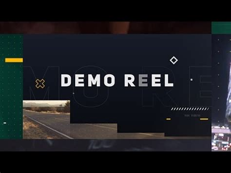 demo reel after effects template youtube